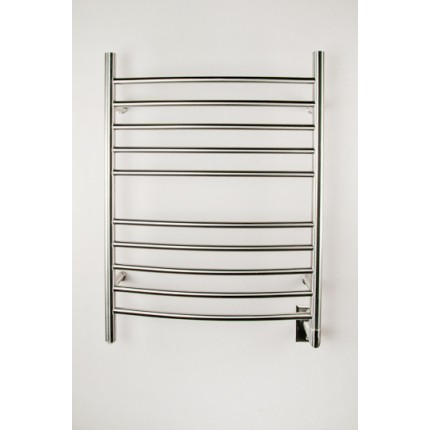 "Amba Radiant Curved Hardwired Mounted Towel Warmers - 23.75""w x 31.5""h"