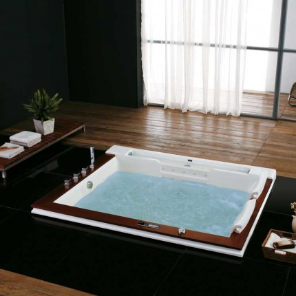 whirlpool bathtubs luxury bathroom corner whirlpool bath. Black Bedroom Furniture Sets. Home Design Ideas