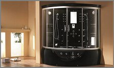 aquapeutics steam shower black caribbean
