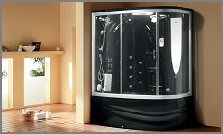 aquapeutics steam shower black concord
